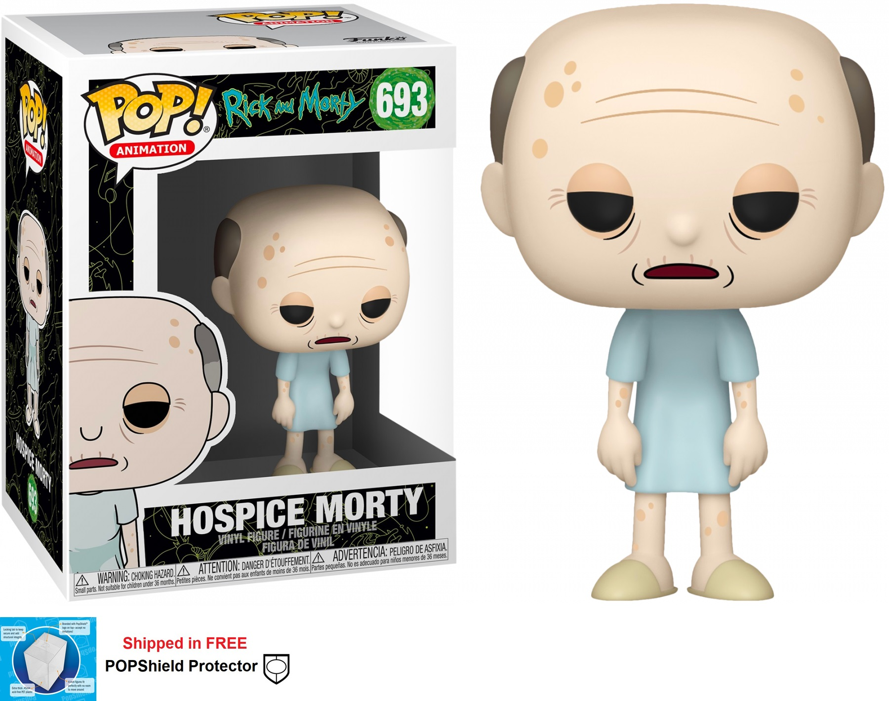 Funko POP Animation Rick and Morty Hospice Morty #693